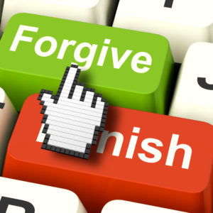 Punish Forgive Computer Showing Punishment or Forgiveness
